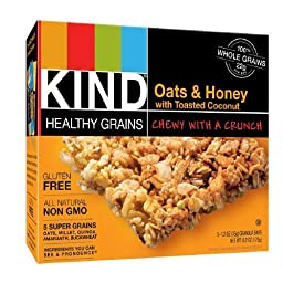 KIND Healthy Grains Bars, Oats & Honey with Toasted Coconut 5 ea (Pack of 2)