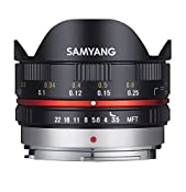 Samyang 7.5 mm Fisheye F3.5 Manual Focus Lens for Micro: Amazon.co.uk: Electronics
