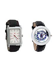 Gledati Men's White Dial And Foster's Women's White Dial Analog Watch Combo_ADCOMB0001794
