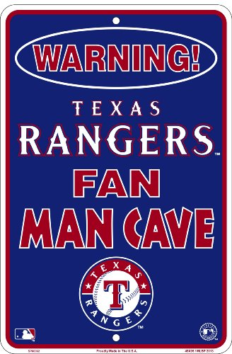 Texas Rangers Fan Man Cave Sign 8 X 12 at Amazon.com
