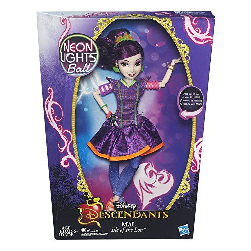 Disney Descendants Neon Lights Feature Mal of Isle of the Lost JungleDealsBlog.com