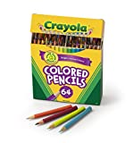 Crayola 64 Ct Short Colored Pencils Kids Choice Colors