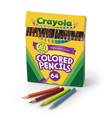 Crayola 64 Ct Short Colored Pencils Kids Choice Colors - 1