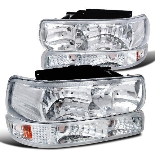 Chevy Tahoe Suburban Euro Headlight, Bumper Signal (Headlights 99 Chevy compare prices)
