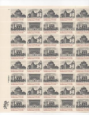 American Architecture Series Sheet of 50 x 18 Cent US Postage Stamps Scot1928-31