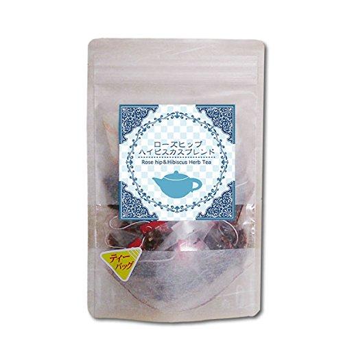 ローズヒップ・ハイビスカスブレンドティー(2g×15ティーバッグ)●鮮やかなルビー色の程よい酸味のハーブブレンド|ヴィーナース