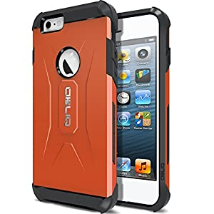 Obliq Heavy Duty Carrying Case for iPhone 6 - Retail Packaging - Xtreme Orange