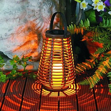1Pcs Yellow Led Solar Garden Decoration Light(Battery Not Included)
