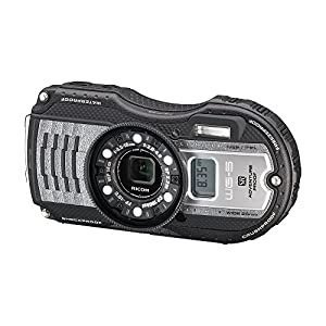 RICOH 防水デジタルカメラ WG-5GPS ガンメタリック 防水14m耐ショック2.2m耐寒-10度 RICOH WG-5GPS GUNMETAL 04651