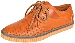 Excellent Mens Tan Synthetic Sneakers (EXST306, Size- 7 UK)