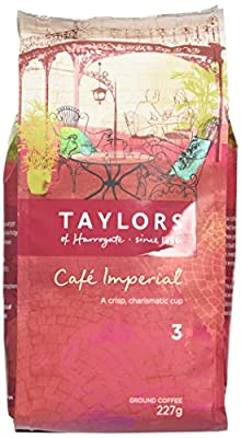 Taylors of Harrogate Café Imperial Medium Roast Ground Coffee 227 g (Pack of 3) from Taylors of Harrogate