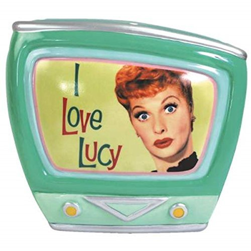 Vintage TV Shaped Coin Bank with I Love Lucy Title Sequence Design - 1