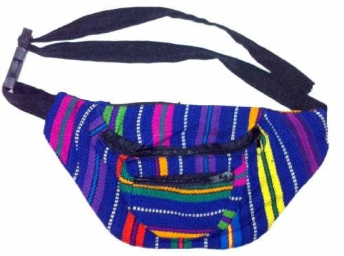 Fabric Fanny Pack - High Quality - Color Patterns May Vary - Handmade in Guatamala (Pattern Fanny Pack compare prices)