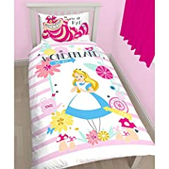 Alice in Wonderland Curious Single/US Twin Duvet Cover Set