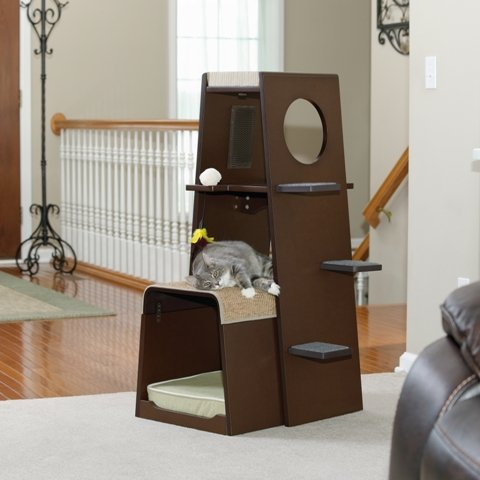 Sauder Woodworking Modular Modern Cat Tower