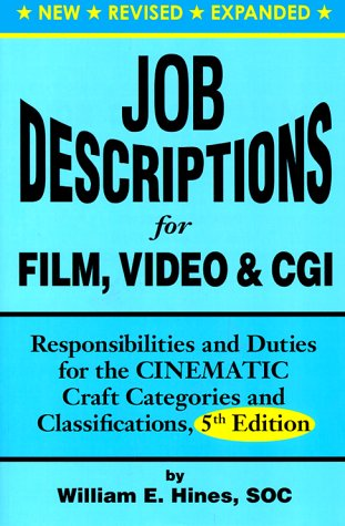 Job Descriptions for Film, Video & Cgi (Computer Generated Imagery): Responsibilities and Duties for