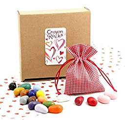Crayon Rocks: Valentine Gift Bag of 20 Crayon Colors
