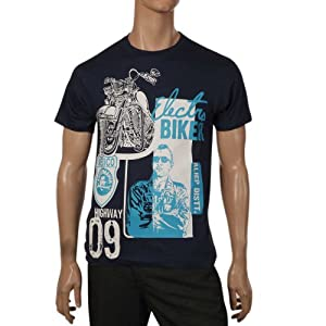 Aliep Men T Shirts AliepS 1221 Navy Blue