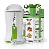 Kitchen-nv Spiral-Schneider Gemüse-Spar-Schäler für Zucchini-Nudeln Rohkost Veggie Slicer Spiralizer Julienne - Weiß