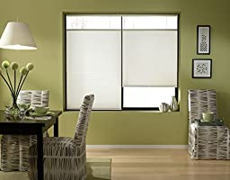 Custom Top Down Bottom Up Cordless Cell Shades, 34W x 59H, White