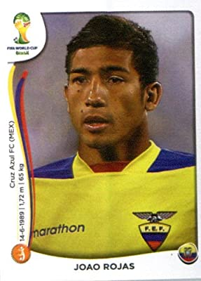 2014 Panini World Cup Soccer Sticker # 368 Joao Rojas Team Ecuador