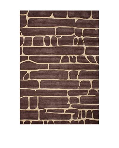 Tapis a Porter Alfombra Vision Bricks Marrón 120 x 180 cm