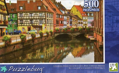Colorful Street - Puzzlebug - 500 Pc Jigsaw Puzzle - NEW