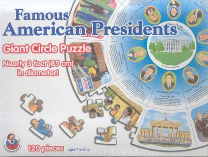 Cheap Frank Schaffer Famous American Presidents (Giant Circle Puzzle) (B000L9VDMO)