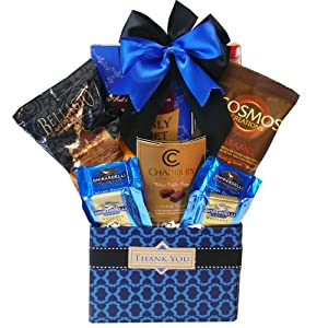 Art of Appreciation Gift Baskets Thank You Desk Caddy Coffee and Treats Gift Set