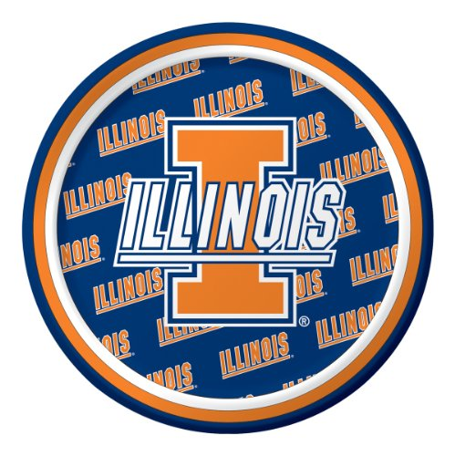 Creative Converting Illinois Fighting Illini Dessert Paper Plates (8 Count)