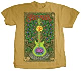 Santana - Mens Lotus Guitar T-Shirt in Camel