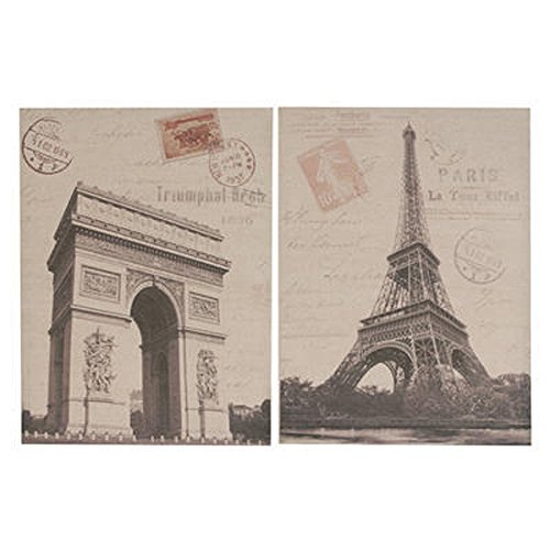 NACH SE-36380 Paris Architecture Wall Decor, Set of 2 - 1
