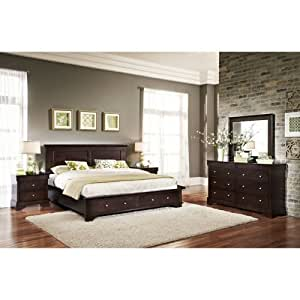 Hudson 5 piece queen storage bedroom set Queen bedroom furniture sets under 300