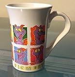 Disney Epcot Figment Purple Dragon White Ceramic Mug NEW