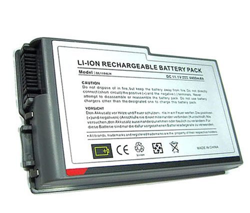 High Quality Hi-Aptitude Li-ion Battery [4400mAh 6 Cells] For Dell Inspiron 500m 510m 600m Series Latitude D500 D505 D510 D520 D600 D610 Literalism M20 Series LAPTOP Replacement battery [4400mha,11.1v]