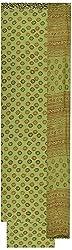 Moni Boutique Women's Chiffon & Georgette Unstitched Salwar Suit (Green)