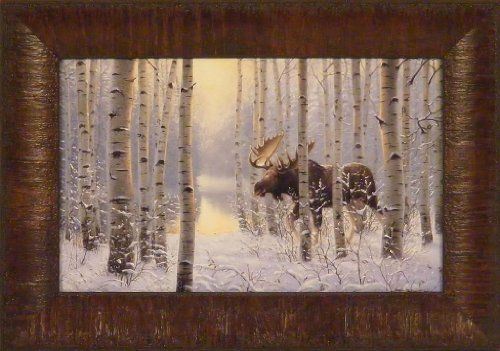 On The Move by Derk Hansen 11x15 Moose Trees