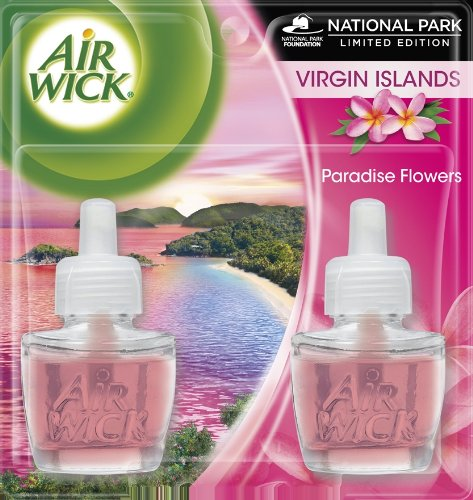 Air Wick Scented Oil Virgin Island Paradise Flowers, 1.34 Ounce (Pack of 2)
