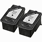 2x Canon PG510 Black Ink Cartridges - Remanufactured for use with Canon Pixma MP230, MP240, MP250, MP252, MP260, MP270, MP272, MP280, MP282, MP330, MP480, MP490, MP492, MP495 and MP499 Printers by Carooble