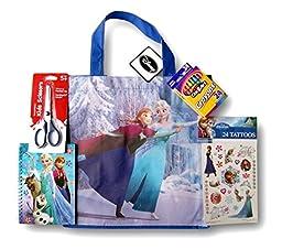 Frozen Deluxe School Supply Set - Tote, Scissors, Crayons, and More