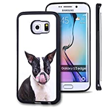 buy Galaxy S7 Edge Case, Customized Black Soft Rubber Tpu Samsung Galaxy S7 Edge Case The Lovely Dog With Pink Face-Chihuahua