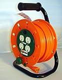 50-Foot Extension Cord Reel with 4ac Sockets + Circuit Breaker (14/3-Gauge)