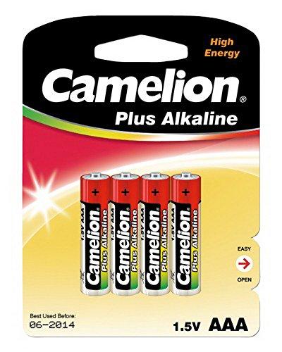 Micro-pile cAMELION plus alkaline 1,5 v de type aAA/lR03, 4 pièces