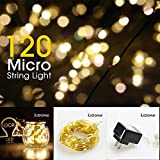 LIDORE Mirco 120 count copper warm white String Lights. 25 ft Flexible Copper Wire. Perfect for parties - indoor and outdoor decor