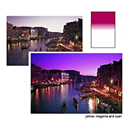 Lee Filters Magenta Soft Graduated #3 Filter 4x6\