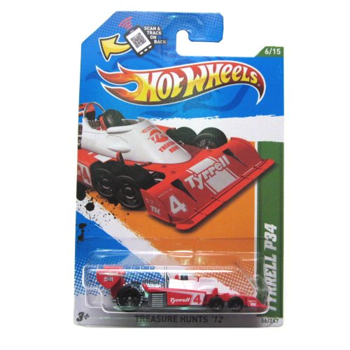 2012 Hot Wheels Treasure Hunt Tyrrell P34 Red/White #56/247 - 1
