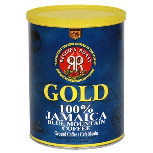 Reggie's Roast 100% Jamaica Blue Mountain Ground Coffee, 12-Ounce Can