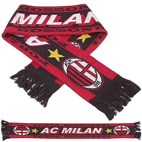 Premiership Soccer Fan Scarf of AC Milan