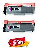 2 X Tóner Compatible con Brother Tn2320 Alta Capacidad DCP-L2520DW , HL-L2300D , HL-L2340DW , HL-L2360DN , , HL-L2365DW , MFC-L2700DW , MFC-L2720DW , MFC-L2740DW DOS NEGROS BRAMACARTUCHOS