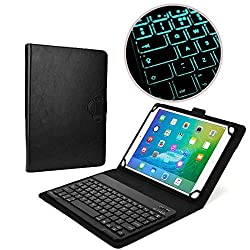 Cooper Cases(TM) Backlight Executive HP 10 Plus, ElitePad 900/1000 G2, Omni 10 inch Tablet Bluetooth Keyboard Folio in Black (PU Leather, Removable Keyboard w/ LED Backlight; Display Stand)